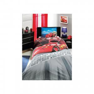 Детское постельное белье 1,5 сп. , Cars Face Movie TAC