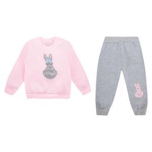 Комплект джемпер/брюки , цвет: розовый/серый Fun Time