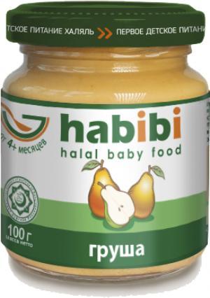 Пюре  Халяль груша с 4 месяцев, 100 г Habibi