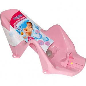 Горка в ванну для купания  Дельфин, цвет: розовый Plastic Centre