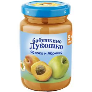 Пюре  яблоко-абрикос, с 5 месяцев, 190 г Бабушкино лукошко