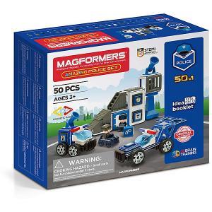 Магнитный конструктор Magformers Amazing Police Set