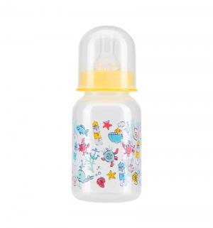Бутылочка  для кормления полипропилен с рождения, 125 мл, цвет: желтый Курносики