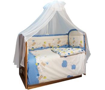 Бортик в кроватку  уютных облачках Soni Kids