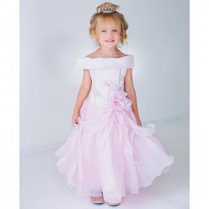 Нарядное платье Шармель. Цвет: розовый