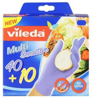 Перчатки хозяйственные  нитриловые, размер: M Vileda
