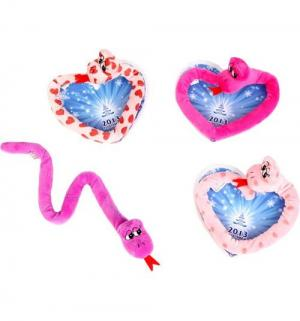 Мягкая игрушка  Змейка Сердце 41 см Plush apple