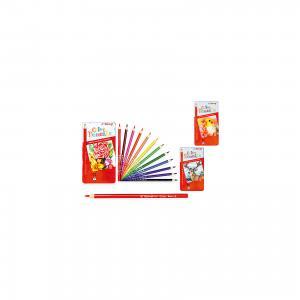Набор цветных карандашей, 12 цветов, с кисточкой Schreiber