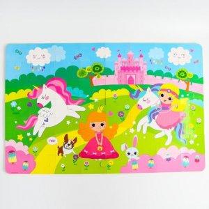 Игровой коврик  пазл Принцесса 60х90 см 56 деталей Крошка Я