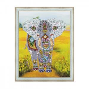Мозаика на холсте Слон Волшебная мастерская