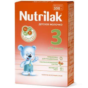 Заменитель молока  3 с 12 месяцев, 350 г Nutrilak