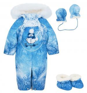 Комбинезон трансформер Снежок, цвет: голубой Alex Junis