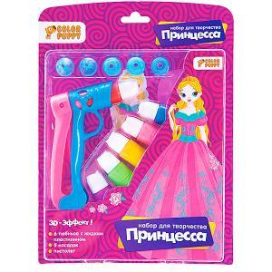Набор для творчества  Принцесса с пистолетом и жидким пластилином Color Puppy. Цвет: фиолетовый