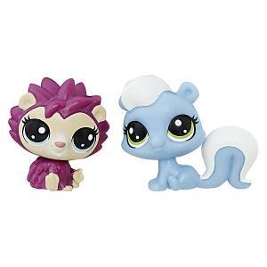 Набор из двух фигурок Littlest Pet Shop Ёжик и скунс Hasbro