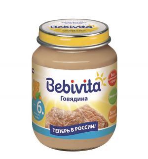 Пюре  говядина с 6 месяцев, 100 г Bebivita