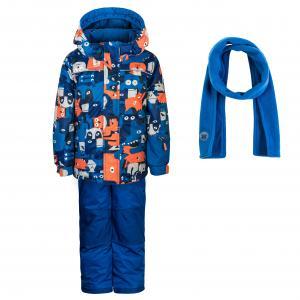 Комплект (куртка, брюки и шарф) синий DEUX PAR. Цвет: синий