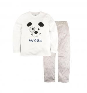 Пижама джемпер/брюки , цвет: белый/бежевый Bossa Nova