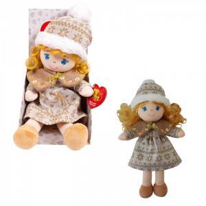 Кукла в бежевой шапочке и фетровом платье 36 см ABtoys