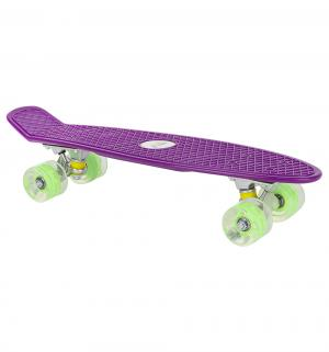 Скейтборд  JC-001, цвет: фиолетовый Leader Kids