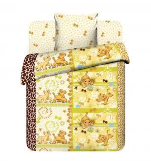 Комплект постельного белья  Принц саванны, цвет: бежевый 3 предмета Василек