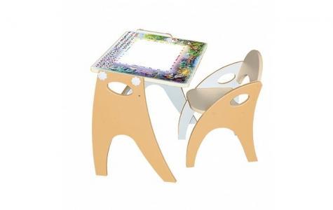 Набор мебели парта-мольберт и стульчик Интехпроект
