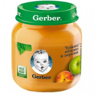 Пюре  яблоко-персик с 5 месяцев, 130 г Gerber
