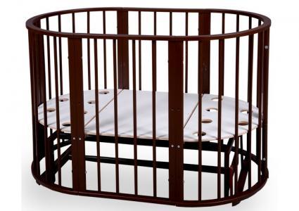 Кроватка-трансформер  Baby Molly 7 в 1 (поперечный маятник) Nastella