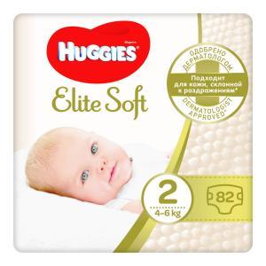 Подгузники  Elite Soft 2 (3-6 кг) 88 шт. Huggies