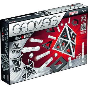Магнитный конструктор  Black & White, 68 деталей Geomag. Цвет: красный/серебряный