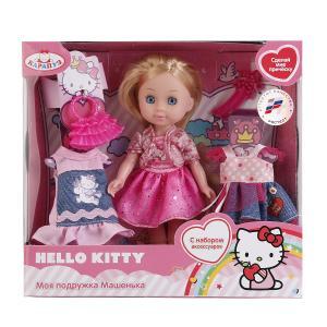 , Кукла Hello Kitty Машенька с набором одежды и аксесс., 15см Карапуз