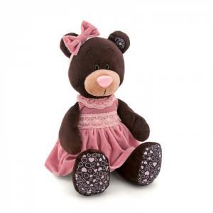 Мягкая игрушка  Milk Сидячая в Розовом Бархатном Платье 30 см Orange