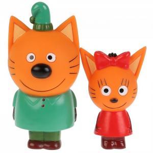 Набор из 2-х игрушек для ванны  Три Кота Карамелька и Компот Капитошка