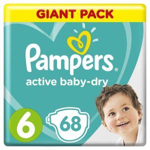 Подгузники  Active Baby-Dry Размер 6 (13-18 кг) 66 шт. Pampers