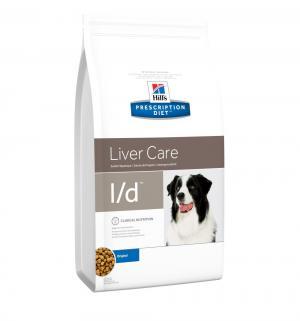 Сухой диетический корм Hills Prescription Diet l/d для взрослых собак при заболеваниях печени, 5кг Hill's