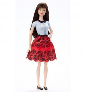 Кукла  Мода Игра с модой черные волосы черно-красная юбка Barbie