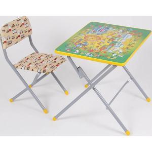 Комплект детской мебели Фея Досуг 201 Алфавит зеленый. Цвет: бежевый