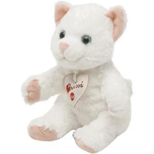 Мягкая игрушка  Белая кошка, 20 см Trudi