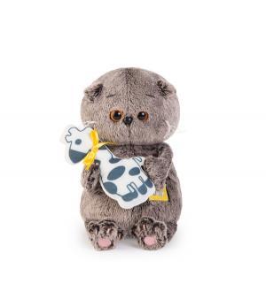 Мягкая игрушка  Малыш Басик с жирафом 20 см Basik&Ko