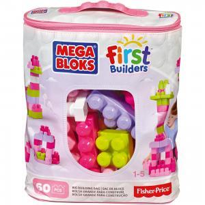 Конструктор Mega Blocks First Builders, 60 деталей, розовый BLOKS