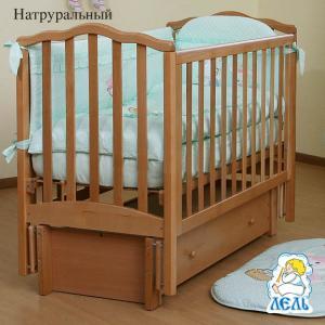 Кровать-качалка  Жасмин, цвет: натуральный бук КубаньЛесстрой