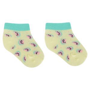 Носки  Арбузные ломтики, цвет: желтый/розовый Crockid
