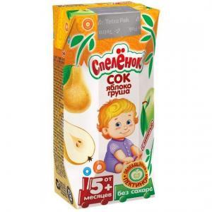 Сок  яблоко-груша, 200 мл Спеленок