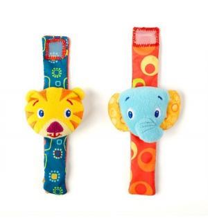 Погремушка  Пара браслетиков на ручку - Слон и Тигр Bright Starts