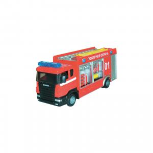 Машинка Scania пожарная спецбригада 1:48, Autotime