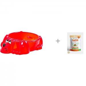 Песочница-бассейн Собачка и Песок для песочниц Mixplant Емеля 14 кг Palplay (Marian Plast)