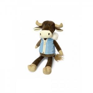 Мягкая игрушка  Бык Гаврила в пуховой жилетке 23 см Maxitoys