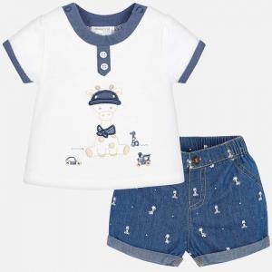 Комплект одежды для мальчика футболка и бриджи 1202 Mayoral