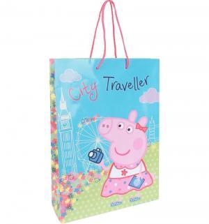 Подарочный пакет  Пеппа на каникулах, 35 х 25 9 см Peppa Pig