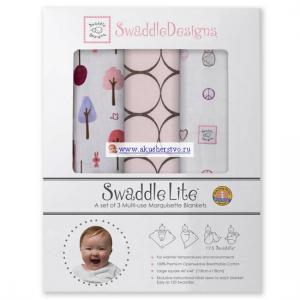 Пеленка  SwaddleLite Cute & Calm комплект 3 шт. SwaddleDesigns