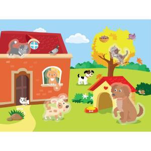Раскраска водная  Кошки и собаки Выпуск 11 Стрекоза
